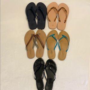 bundle 5 pairs of flip flops